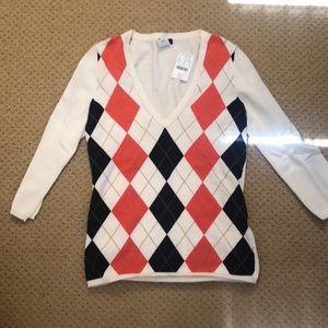 Jcrew NWT xs pullover argyle cardigan
